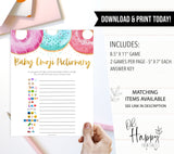 baby emoji pictionary game, Printable baby shower games, donut baby games, baby shower games, fun baby shower ideas, top baby shower ideas, donut sprinkles baby shower, baby shower games, fun donut baby shower ideas