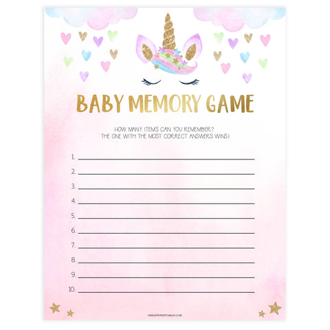baby memory game, Printable baby shower games, unicorn baby games, baby shower games, fun baby shower ideas, top baby shower ideas, unicorn baby shower, baby shower games, fun unicorn baby shower ideas