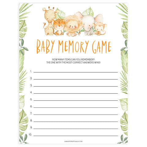 baby shower memory game, Printable baby shower games, safari animals baby games, baby shower games, fun baby shower ideas, top baby shower ideas, safari animals baby shower, baby shower games, fun baby shower ideas