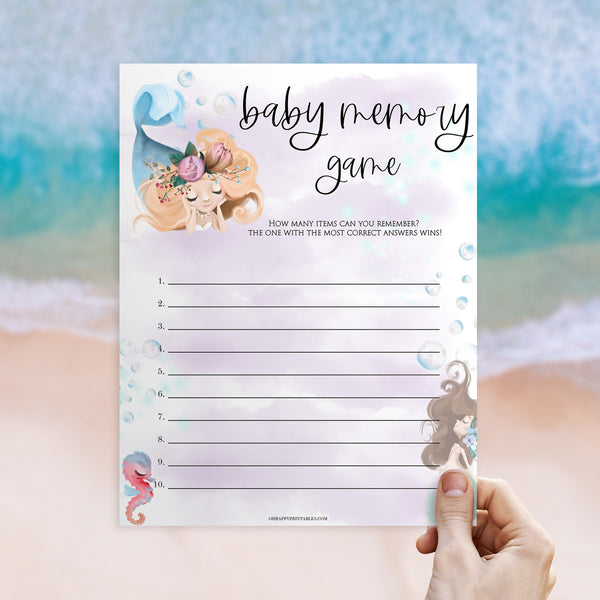 baby memory game, Printable baby shower games, little mermaid baby games, baby shower games, fun baby shower ideas, top baby shower ideas, little mermaid baby shower, baby shower games, pink hearts baby shower ideas