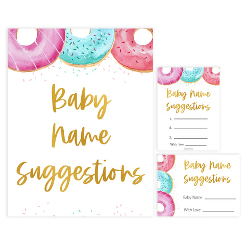 baby name suggestions game, Printable baby shower games, donut baby games, baby shower games, fun baby shower ideas, top baby shower ideas, donut sprinkles baby shower, baby shower games, fun donut baby shower ideas