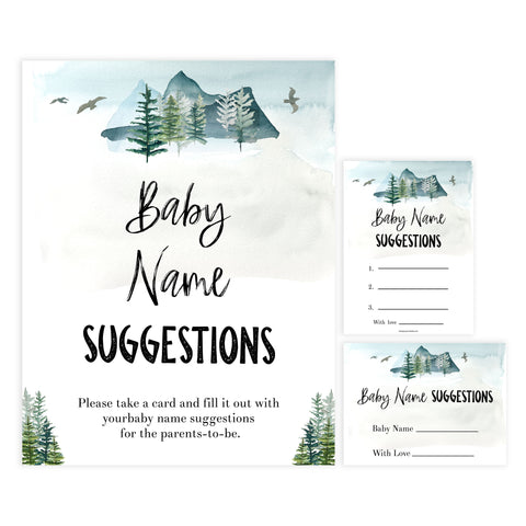 baby name suggestions game, Printable baby shower games, adventure awaits baby games, baby shower games, fun baby shower ideas, top baby shower ideas, adventure awaits baby shower, baby shower games, fun adventure baby shower ideas
