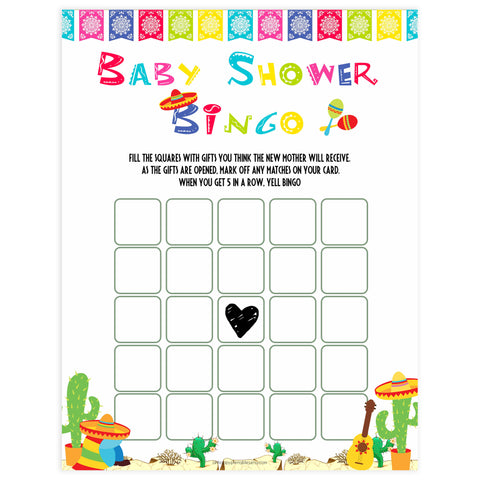 baby shower bingo, Printable baby shower games, Mexican fiesta fun baby games, baby shower games, fun baby shower ideas, top baby shower ideas, fiesta shower baby shower, fiesta baby shower ideas