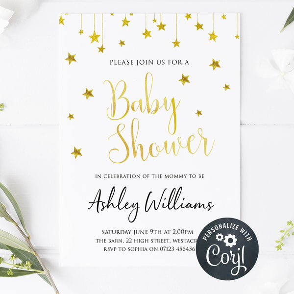 editable little star baby shower games, baby shower invitations, little baby shower, printable baby shower invitations
