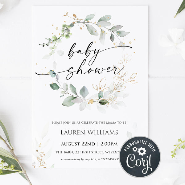 editable baby shower invite, floral baby shower invitation, floral baby shower, baby shower invites