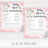 pink elephant baby games, baby advice and predictions baby shower games, printable baby shower games, baby shower games, fun baby games, popular baby games, pink baby games