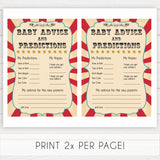 baby advice and predictions circus theme baby shower games, Circus baby games, Circus baby shower themes