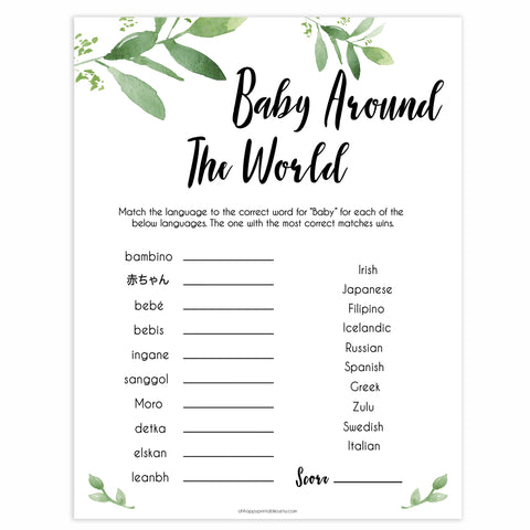 baby around the world baby games, printable baby games, fun baby games, popular baby games