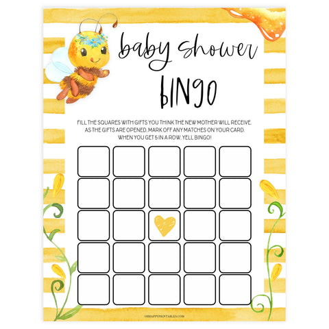 baby shower bingo, Printable baby shower games, mommy bee fun baby games, baby shower games, fun baby shower ideas, top baby shower ideas, mommy to bee baby shower, friends baby shower ideas