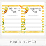 baby memory games, Printable baby shower games, mommy bee fun baby games, baby shower games, fun baby shower ideas, top baby shower ideas, mommy to bee baby shower, friends baby shower ideas