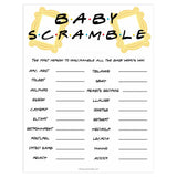 baby scramble game, Printable baby shower games, friends fun baby games, baby shower games, fun baby shower ideas, top baby shower ideas, friends baby shower, friends baby shower ideas