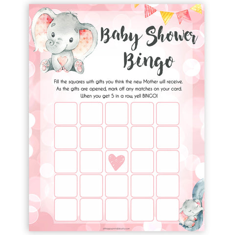 pink elephant baby games, baby shower bingo baby shower games, printable baby shower games, baby shower games, fun baby games, popular baby games, pink baby games