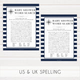 baby shower word search game, baby word search game, Printable baby shower games, nautical baby shower games, nautical baby games, fun baby shower games, top baby shower ideas