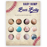 Baseball Baby Bump or Beer Belly Game, Pregnant or Beer Belly, Funny Baby Shower Games, Bump or Belly, Baby Bump or Beer Belly Baby, printable baby shower games, fun baby shower games, popular baby shower games