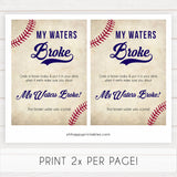 Little Slugger Waters Broke Game, Printable Baby Shower Games, Waters Broke Baby Game, My Waters Broke Game, Baseball Baby Shower Games, printable baby shower games, fun baby shower games, popular baby shower games