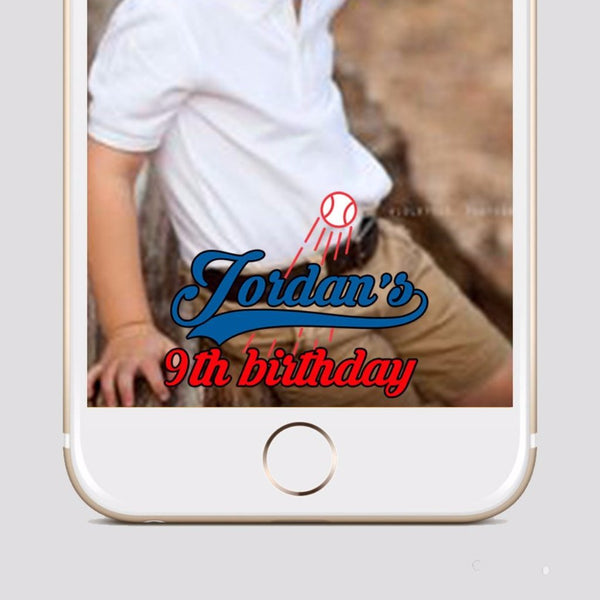 Baseball Party Snapchat Filter Geofilter