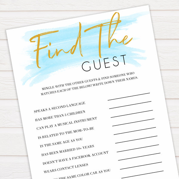 Blue swash, find the guest baby games, baby shower games, printable baby games, fun baby games, boy baby shower games, baby games, fun baby shower ideas, baby shower ideas, boy baby games, blue baby shower