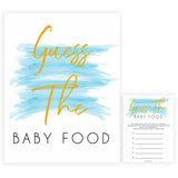 Blue swash, guess the baby food baby games, baby shower games, printable baby games, fun baby games, boy baby shower games, baby games, fun baby shower ideas, baby shower ideas, boy baby games, blue baby shower