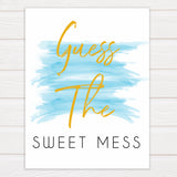 Blue swash, guess the sweet mess baby games, baby shower games, printable baby games, fun baby games, boy baby shower games, baby games, fun baby shower ideas, baby shower ideas, boy baby games, blue baby shower