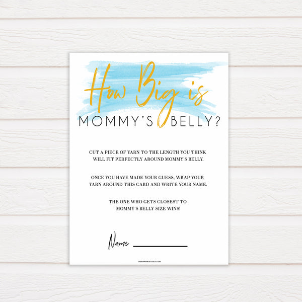 Blue swash, how big is mommys belly baby games, baby shower games, printable baby games, fun baby games, boy baby shower games, baby games, fun baby shower ideas, baby shower ideas, boy baby games, blue baby shower