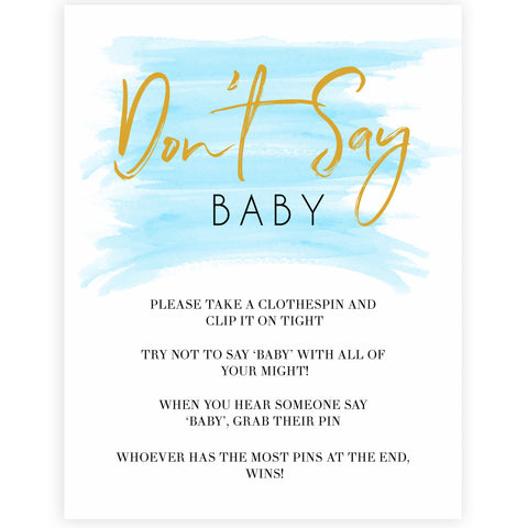Blue swash, dont say baby baby games, baby shower games, printable baby games, fun baby games, boy baby shower games, baby games, fun baby shower ideas, baby shower ideas, boy baby games, blue baby shower