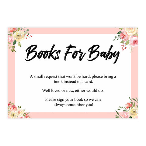 books for baby, bring a book, Printable baby shower games, floral fun baby games, baby shower games, fun baby shower ideas, top baby shower ideas, floral baby shower, blue baby shower ideas