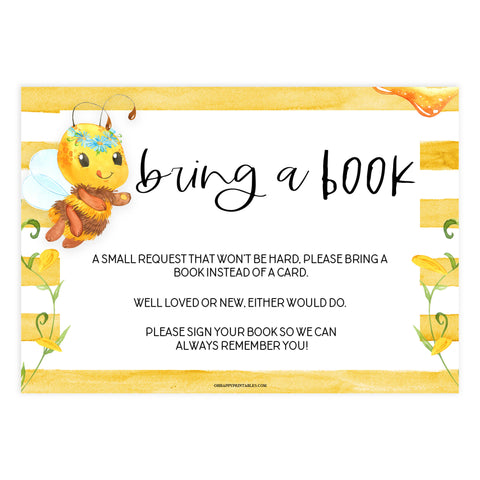 bring a book, books for baby insert, Printable baby shower games, mommy bee fun baby games, baby shower games, fun baby shower ideas, top baby shower ideas, mommy to bee baby shower, friends baby shower ideas