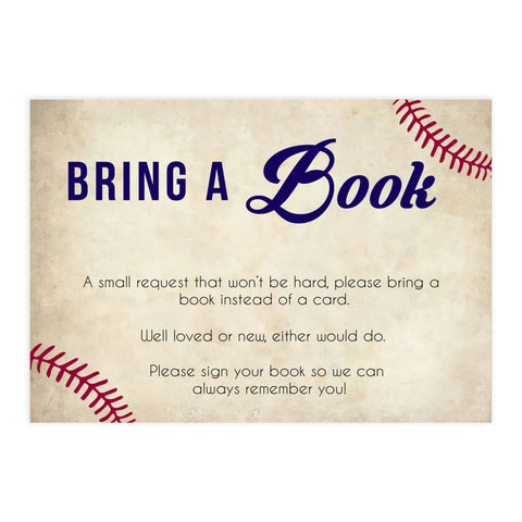 books for baby insert, bring a book for baby insert, Baseball baby shower games, printable baby shower games, fun baby shower games, top baby shower ideas, little slugger baby games