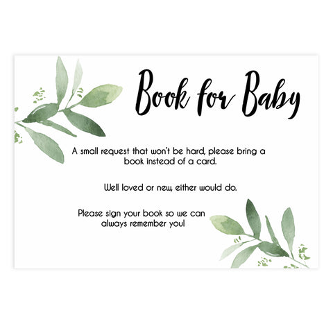 Books for baby insert, Printable baby shower games, botanical baby shower games, floral baby shower ideas, fun baby shower ideas