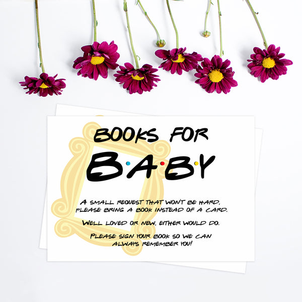 books for baby, bring a book insert, Printable baby shower games, friends fun baby games, baby shower games, fun baby shower ideas, top baby shower ideas, friends baby shower, friends baby shower ideas