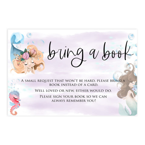 bring a book, books for baby insert, Printable baby shower games, little mermaid baby games, baby shower games, fun baby shower ideas, top baby shower ideas, little mermaid baby shower, baby shower games, pink hearts baby shower ideas