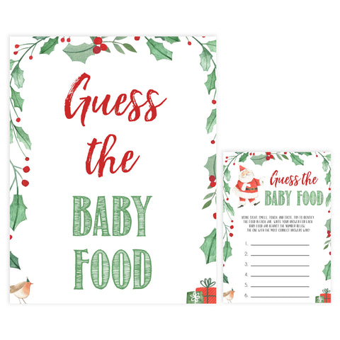 Christmas baby shower games, guess the baby food, festive baby shower games, best baby shower games, top 10 baby games, baby shower ideas, baby shower games
