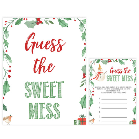 Christmas baby shower games, guess the sweet mess, festive baby shower games, best baby shower games, top 10 baby games, baby shower ideas, baby shower games