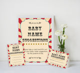 Circus baby name suggestions baby shower games, circus baby games, carnival baby games, printable baby games, fun baby games, popular baby games, carnival baby shower, carnival theme