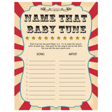 Circus name that baby tune baby shower games, circus baby games, carnival baby games, printable baby games, fun baby games, popular baby games, carnival baby shower, carnival theme
