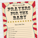 Circus prayers for the baby baby shower games, circus baby games, carnival baby games, printable baby games, fun baby games, popular baby games, carnival baby shower, carnival theme