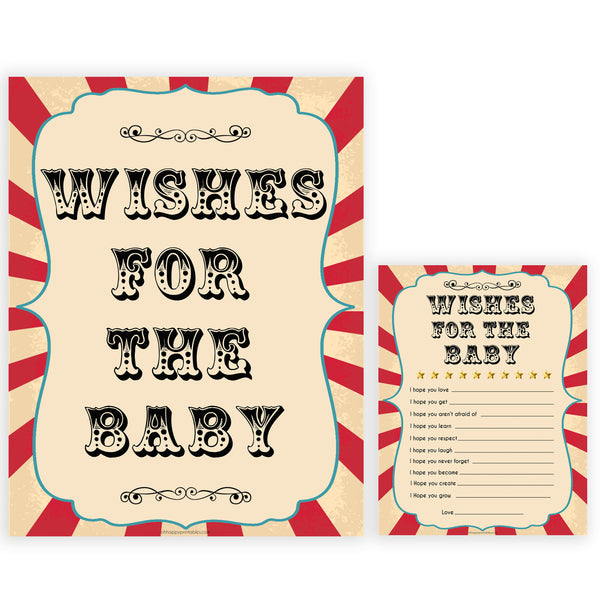 Circus wishes for the baby baby shower games, circus baby games, carnival baby games, printable baby games, fun baby games, popular baby games, carnival baby shower, carnival theme