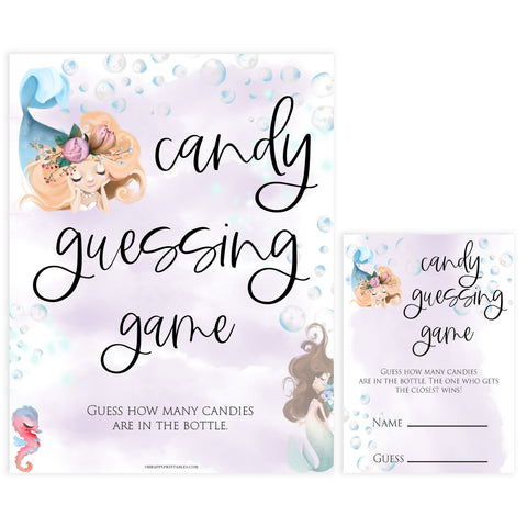 candy guessing game, Printable baby shower games, little mermaid baby games, baby shower games, fun baby shower ideas, top baby shower ideas, little mermaid baby shower, baby shower games, pink hearts baby shower ideas