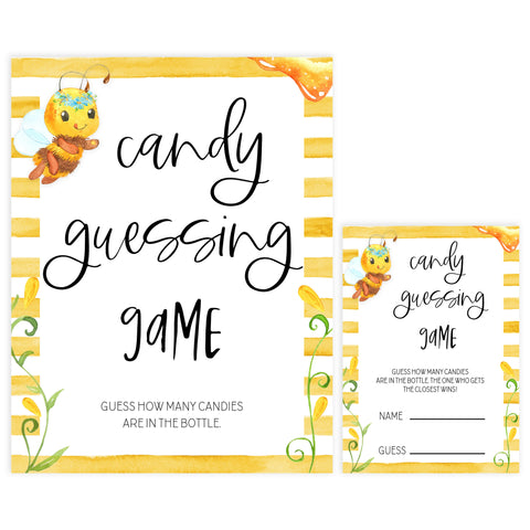 candy guessing game, Printable baby shower games, mommy bee fun baby games, baby shower games, fun baby shower ideas, top baby shower ideas, mommy to bee baby shower, friends baby shower ideas