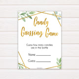 gold geometric candy guessing game baby shower games, printable baby shower games, fun baby games, popular baby games, gold baby games