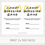 candy guessing game, Printable baby shower games, friends fun baby games, baby shower games, fun baby shower ideas, top baby shower ideas, friends baby shower, friends baby shower ideas