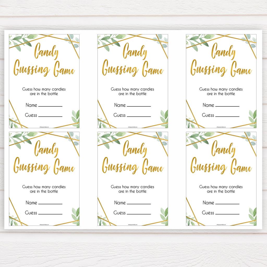 graphic about Guess Who Game Printable identified as Sweet Guessing Recreation - Gold Geometric Printable Boy or girl Shower