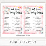 pink elephant baby games, celebrity baby names baby shower games, printable baby shower games, baby shower games, fun baby games, popular baby games, pink baby games