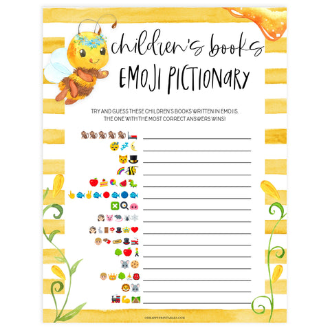 Childrens books emoji pictionary, Printable baby shower games, mommy bee fun baby games, baby shower games, fun baby shower ideas, top baby shower ideas, mommy to bee baby shower, friends baby shower ideas