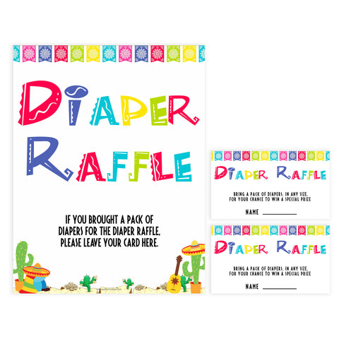 diaper raffle game, Printable baby shower games, Mexican fiesta fun baby games, baby shower games, fun baby shower ideas, top baby shower ideas, fiesta shower baby shower, fiesta baby shower ideas