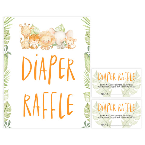 diaper raffle game, Printable baby shower games, safari animals baby games, baby shower games, fun baby shower ideas, top baby shower ideas, safari animals baby shower, baby shower games, fun baby shower ideas