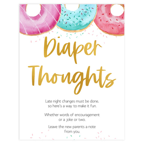 diaper thoughts baby game, Printable baby shower games, donut baby games, baby shower games, fun baby shower ideas, top baby shower ideas, donut sprinkles baby shower, baby shower games, fun donut baby shower ideas