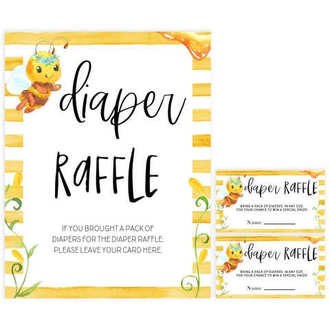 diaper raffle baby game, Printable baby shower games, mommy bee fun baby games, baby shower games, fun baby shower ideas, top baby shower ideas, mommy to bee baby shower, friends baby shower ideas