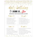 adult birthday drink if game, printable birthday games, gold glitter birthday games, fun birthday games, adult birthday games, top birthday games, 30th birthday
