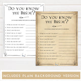 do you know the bride game, do you know the bride, Printable bridal shower games, Harry potter bridal shower, Harry Potter bridal shower games, fun bridal shower games, bridal shower game ideas, Harry Potter bridal shower